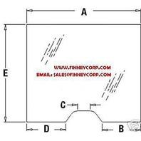 T191071 JOHN DEERE 310SG 410G 310J 410J 710G 710J 310G BACKHOE GLASS WINDSHIELD