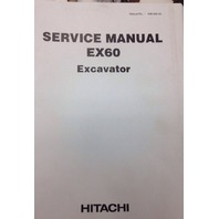 Hitachi EX60 PLAIN Excavator Service Manual Shop Repair Book KM-099-00 KM09900