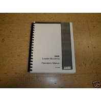 Case 580K Loader Backhoe Operators maintenance Manual Early SN