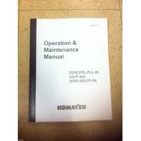 Komatsu D31E-20 D31P-20 D37E-5 D37P-5 Dozer Operation & Maintenance Manual