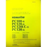 Komatsu PC120-6 PC100-6 PC100L PC120LC-6 PC130-6 Excavator Service Shop Manual