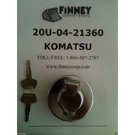 Komatsu Excavator Locking Fuel Cap 20U-04-21360 NEW key PC128UU PC75UU-3 PC50U