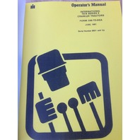 International Harvester IH Dresser TD8E Dozer Operator Maintenance Manual HI S/N