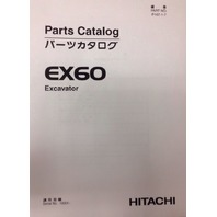 Hitachi EX60 PLAIN Excavator PARTS Manual Book P107-1-7 P107-E1-6 Machine & Comp