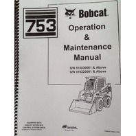 Bobcat 753G 753 G Operation & Maintenance Manual Book 6900969 operator