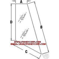 Deere 310G 310J 410J BACKHOE GLASS RH REAR CORNER T164705