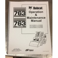 Bobcat 763F 763 Operation & Maintenance Manual operator owner 6900788