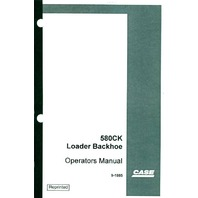 Case 580 580CK Loader Backhoe Operators Manual 2 in 1 PLAIN EARLY