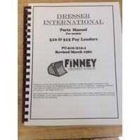 IH International 510 515 Wheel Loader PARTS Manual  Book PC-510/515-4 PLAIN
