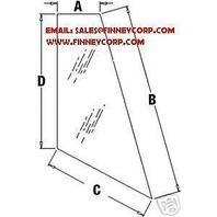 Deere 310G 410J BACKHOE GLASS REAR CORNER LH T164708