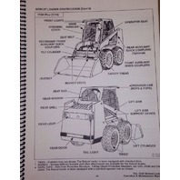 Bobcat 753H 753 H Operation & Maintenance Operator Manual Book 6900374