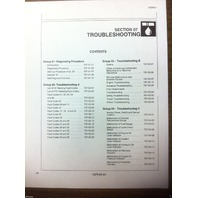 Hitachi EX200-3 Excavator Service Technical TROUBLESHOOTING Manual Shop T137300