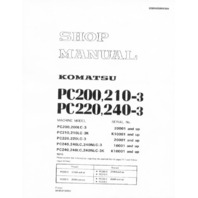 Komatsu PC200 PC220 PC210 Excavator Shop Service Manual