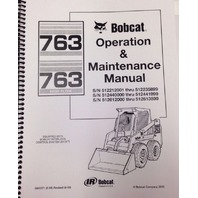 Bobcat 763 Operation & Maintenance Manual 6900371 early