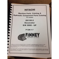Hitachi EX120-2 Excavator Parts and Hydraulic component Manual TWO VOLUME book