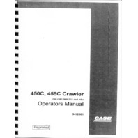 Case 450C 455C crawler Operators Manual Dozer Loader operation maintenance