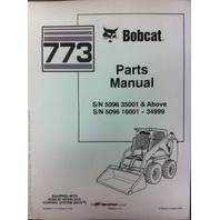 Bobcat 773 Parts Manual Book Skid steer loader 6724065 NEW
