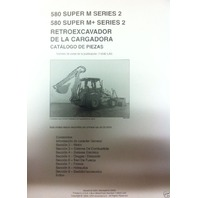 Case 580SM Super M M+ Series 2 II Backhoe Parts Manual Catalog SPANISH 7-9042LAS