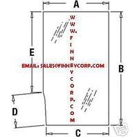 Deere 210C 310C 410B 410C 510B 510C 610B BACKHOE CAB GLASS DOOR UPPER LH T113463