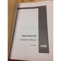 Case 550G Crawler Dozer Operation Maintenance Manual Bur 9-26012 Operator's