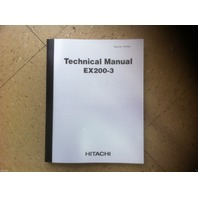 Hitachi EX200-3 Excavator Service Technical WorkShop Manual Shop W137-3-00