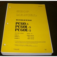 KOMATSU PC60-5 PC60 Hydraulic Excavator Service Shop Repair Manual Book