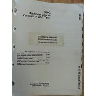 John Deere JD 310G Backhoe Loader Service Technical OPERATION TEST Manual TM1885