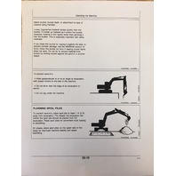 John Deere 490E Excavator Operation Maintenance Manual Book OMT138805 EARLY S/N