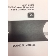 John Deere JD 550B 555B Crawler Service Technical Repair Manual Book TM1331