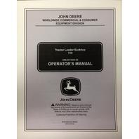John Deere JD 110 Tractor Loader Backhoe Operators Maintenance Manual OMLVU13606