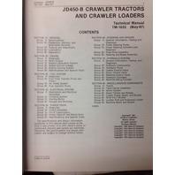 John Deere JD 450B Crawler Dozer Loader Technical Manual TM1033 repair book Service