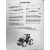 John Deere JD 7600 7700 7800 Tractor Operators Operation Manual OMAR113020 maintenance book