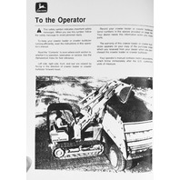 John Deere JD 350C Crawler Loader 350C Crawler Bulldozer Operator Operation Manual OMT79469 F4