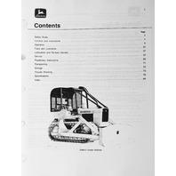 John Deere JD 450C Crawler Bulldozer Operator Operation Manual OMT62742 C8