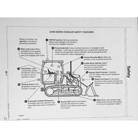 John Deere JD 455G  and 555G TC and Direct Drive Crawler Loader Operator Operation Manual OMT163973 A8