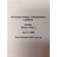 IH International Dresser 175C Crawler Loader Operators Maintenance Manual book HI Serial #