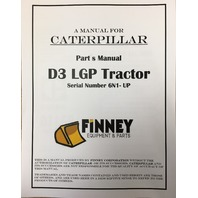 CATERPILLAR CAT D3 PARTS MANUAL BOOK S/N 6N 1-885 UEG0725S
