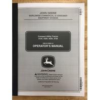 John Deere JD 3120 3320 3520 3720 Compact Utility Tractor Operators Maintenance Manual OMLVU19809