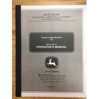 JOHN DEERE 110 TRACTOR LOADER BACKHOE OPERATORS MANUAL OPERATION MAINTENANCE OMLVU13606