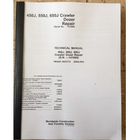 JOHN DEERE 450J 550J 650J CRAWLER DOZER REPAIR MANUAL SERVICE TM2258 EARLY SERIAL #