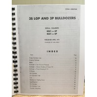 Caterpillar 3S LGP and 3P Bulldozer Parts Book Serial # 85U1-UP 86U1-UP UEG0704S