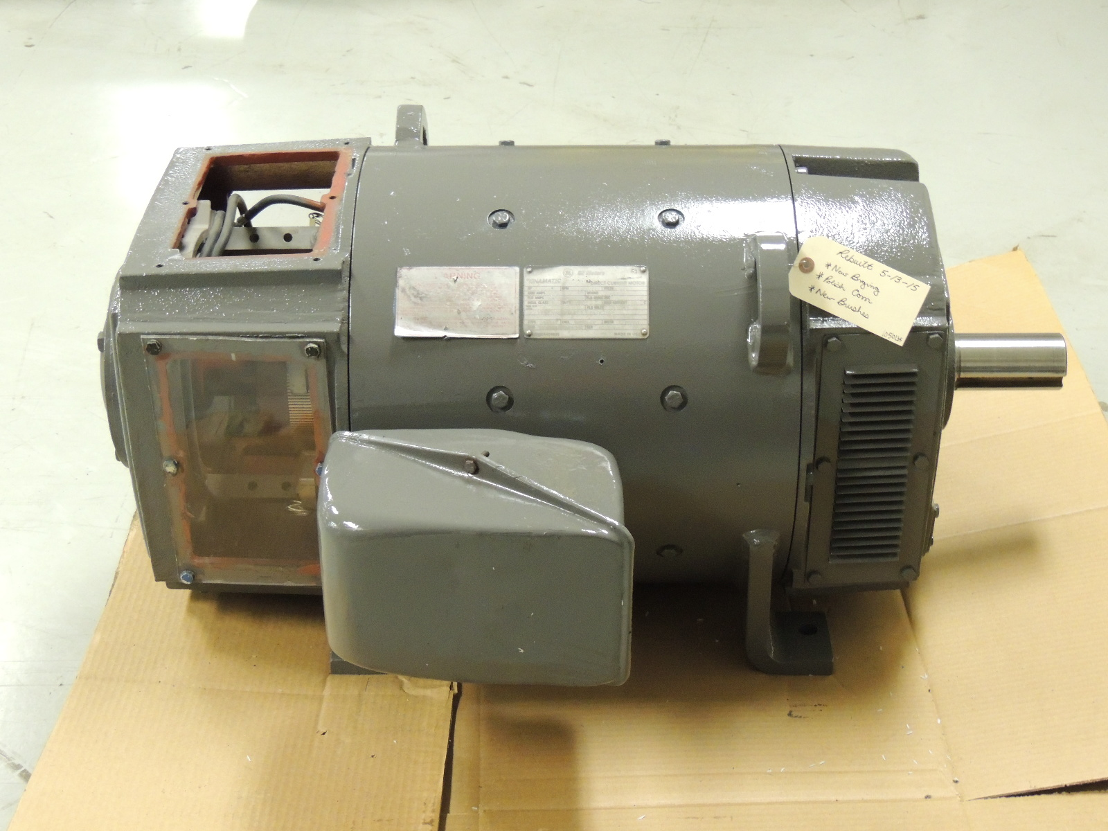 Rblt ge kinamatic dc motor 5cd194na064a046 60 h p 1150 for Ge commercial motors 5kcp39fg