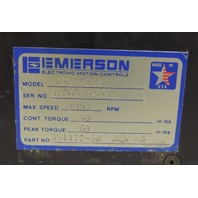 Used Emerson Servo Motor DXE-430B  3000 RPM  30 in lbs Constant Torque  DXE430B