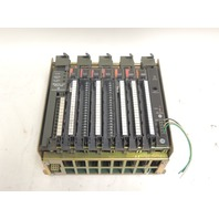 Used Allen Bradley 8 Slot I/O Chassis 1771-A2B  With 4 Input & 3 Output Modules