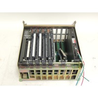 Used Allen Bradley 8 Slot I/O Chassis 1771-A2B B  With 3 Input & 1 Output Modules