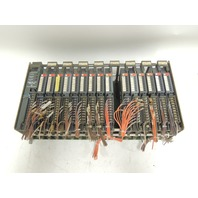 Used Allen Bradley 16 Slot I/O Chassis 1771AD With 10 Input & 5 Output Modules