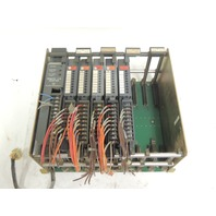 Used Allen Bradley 8 Slot I/O Chassis 1771-AB  With 3 Input & 2 Output Modules