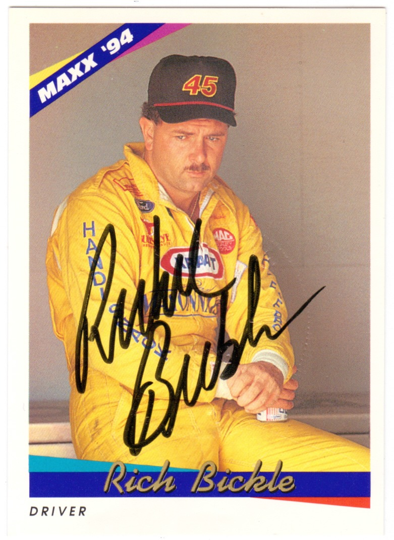 RICH BICKLE 1994 Maxx Autograph Signature Auto Card Embossed Embossed Seal Stamp