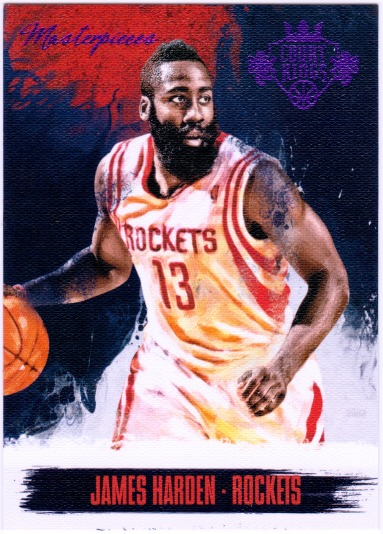 JAMES HARDEN 2013-14 Court Kings Masterpieces Purple Card #23 6/25