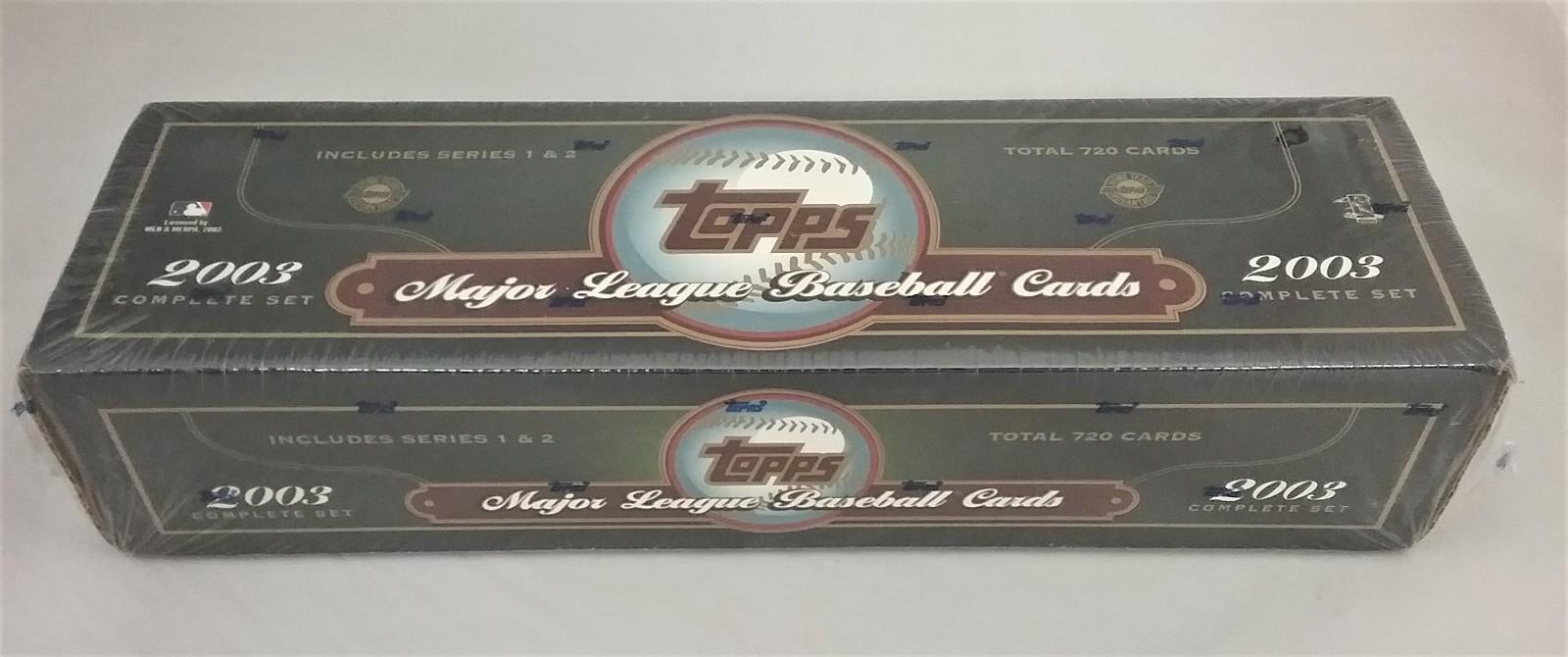 2003 Topps Baseball Green Factory Set Sealed